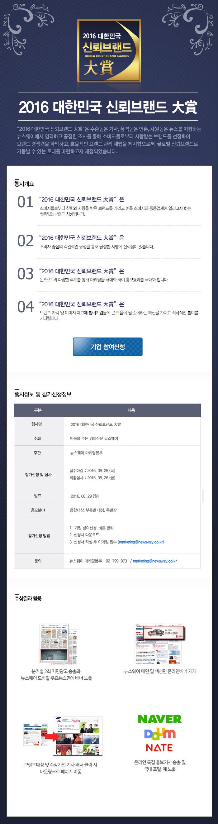 2016 대한민국 신뢰브랜드대상 이벤트