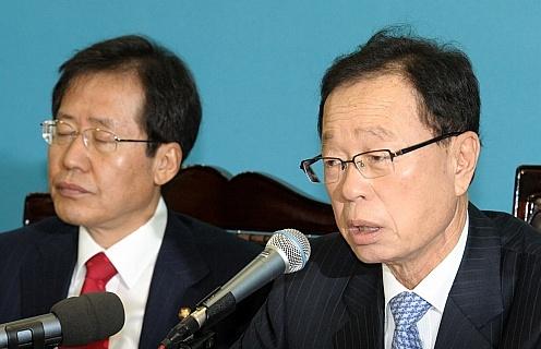 """박희태 """"국회의원 추방 선례 생기면 폭력 사라질 것"""""""