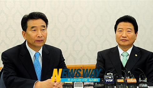 여야 원내대표 회담, 4대강 예산 `이견'