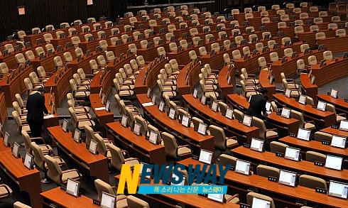 국토위 4대강 예산 강행처리로 본회의 `파행'