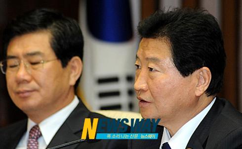 한나라당 안상수 원내대표, 北에 `남측자산 동결' 철회 촉구