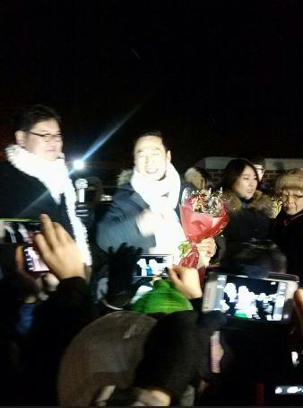 정봉주 전 의원 출소 네티즌 환영