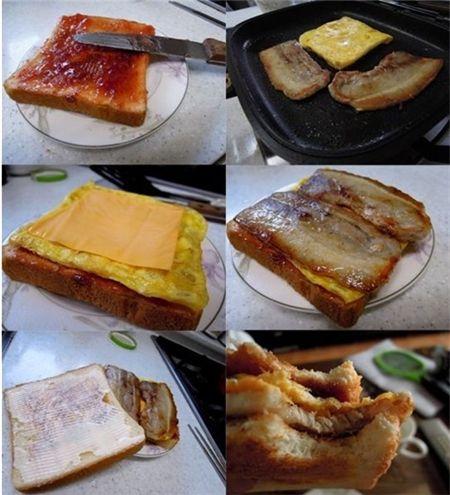'삼겹살 토스트' 맛은 어떨까