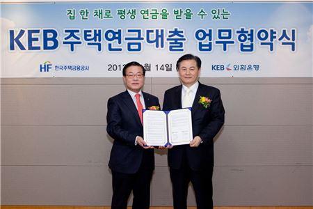 외환은행, 주택금융公 전액 보증 'KEB주택연금대출'출시