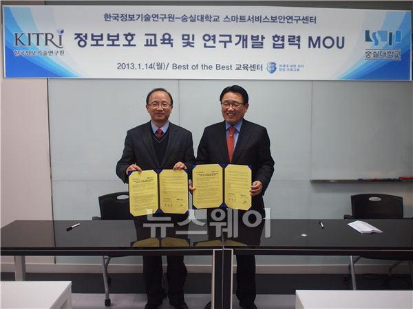 KITRI-스마트서비스보안硏, 정보보안 전문가 양성 및 공동협력 협약