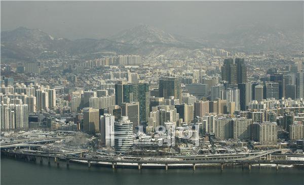 하얗게 덮힌 서울