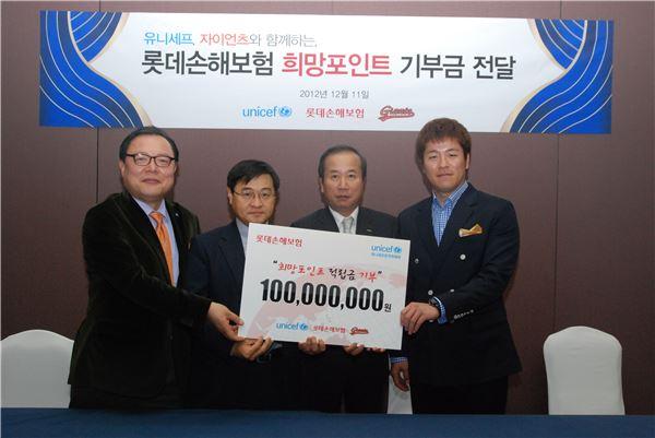 """<사회공헌>롯데손보 """"강민호 선수 홈런치면 기쁘게 기부합니다"""""""