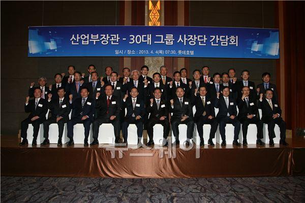 정부-30대 그룹 민생 경제 부흥 한 목소리…민간그룹 149조 투자