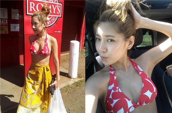 """채은정, 하와이서 찍은 비키니 사진 공개 """"32세 몸매가…"""""""