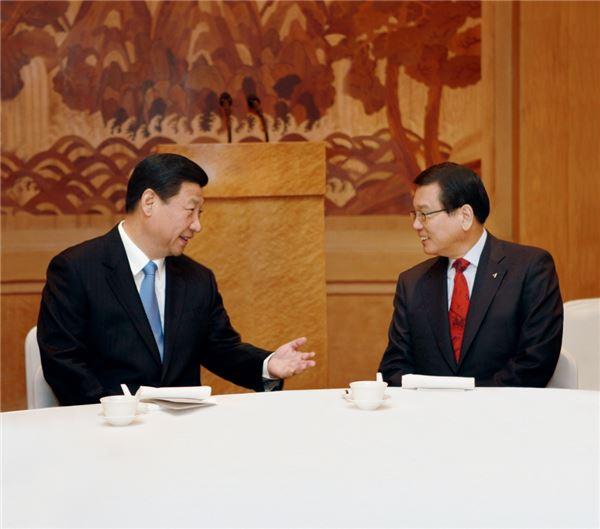 박삼구 금호아시아나 회장, 시진핑 中 국가주석과 환담
