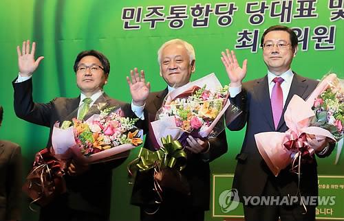 민주 당대표 김한길·이용섭·강기정 압축