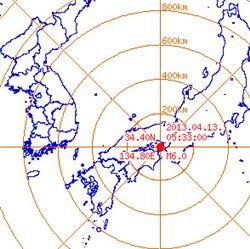 일본 진도 6.0 규모 지진 발생, 원전 피해는 없어
