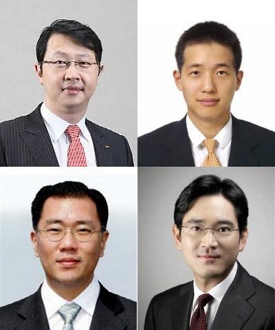재벌그룹 경영권 승계 후보자들의 엇갈린 행보