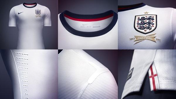 나이키, 잉글랜드 축구대표팀 홈 유니폼 선보여