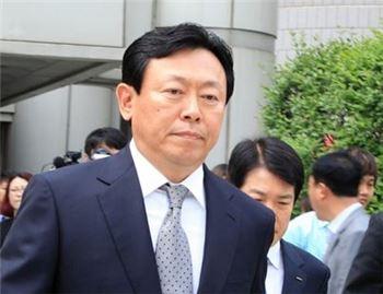 롯데그룹  신동빈 회장 선거공판