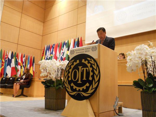 이희범 경총 회장, ILO 총회 연설