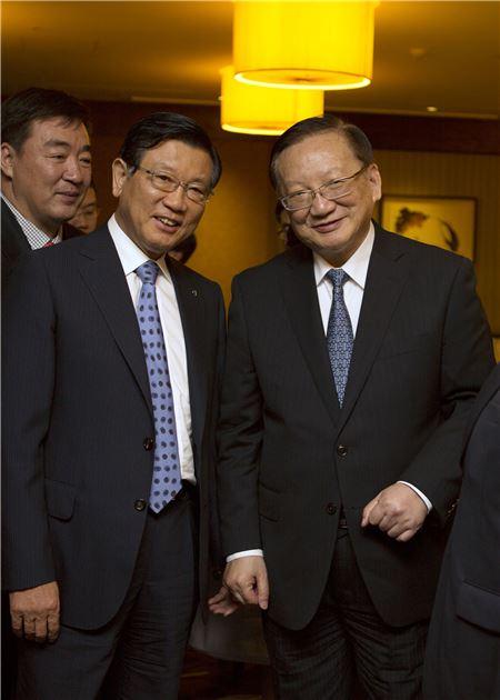 박삼구 금호아시아나 회장, 탕자쉬안 中 전 국무위원 접견