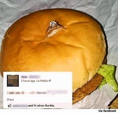 """햄버거 프러포즈 """"도대체 얼마짜리 햄버거야"""""""