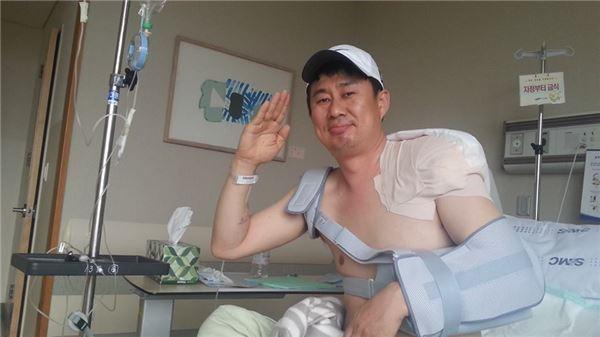 """남희석 응급수술 """"오른쪽 겨드랑이 닦기 힘들어"""""""