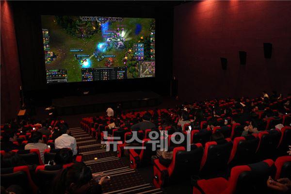 CGV, '리그 오브 레전드' 결승전 생중계