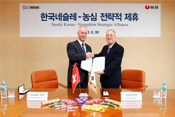농심-한국네슬레, 전략적 제휴···상품 다변화로 영업 활성화 기대