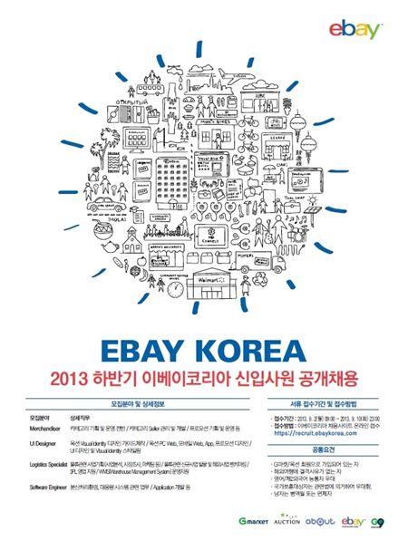 이베이코리아, 2013 하반기 신입사원 공개 채용