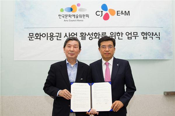CJ E&M-한국문화예술위원회, '문화이용권 사업' 업무 협약 체결