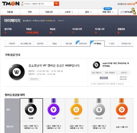 티몬, 업계 최초 VIP 멤버십제도 도입