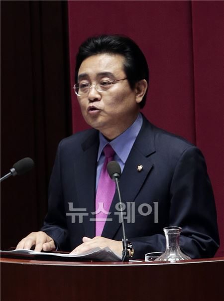 민주당 전병헌 원내대표의 연설