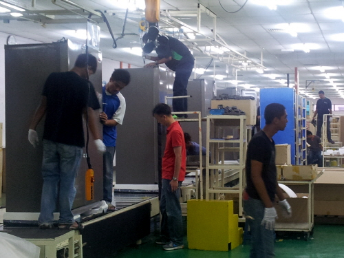 동부대우전자 말레이시아 공장 냉장고 생산