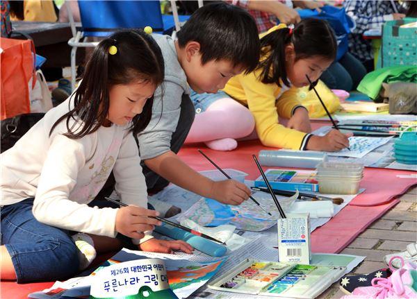 현대차, 대한민국 어린이 푸른나라 그림대회 본선 개최