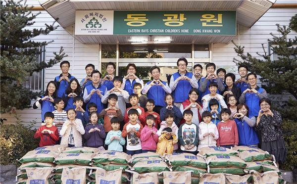 삼성전기, '사랑의 쌀 나눔데이' 행사 40곳 동시진행