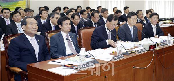정무위원회 국정감사 증인들