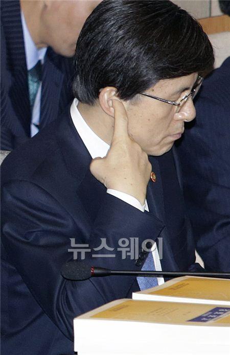 황교안 법무부 장관, '국회 예결위가 기가 막혀'