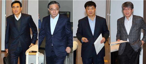 """삼성 신임사장들 첫 회의, 익숙치 않은 기자들과의 만남 """"낯서네요"""""""