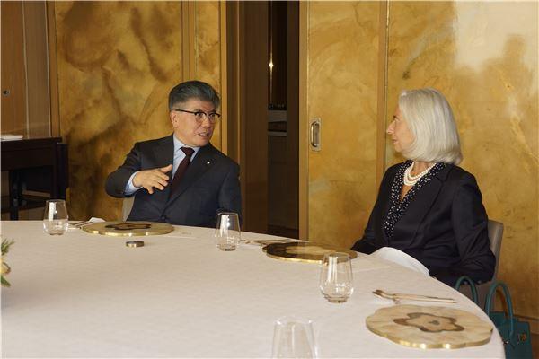 김중수 한은 총재, 라가르드 IMF 총재와 오찬 가져
