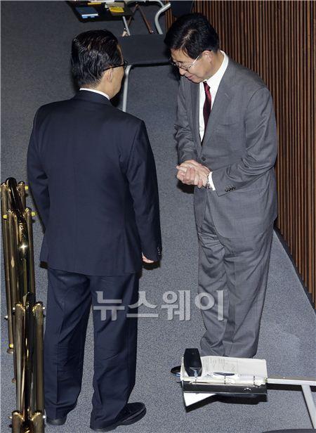 박지원-양승조, 어떤 대화를 나누길래...
