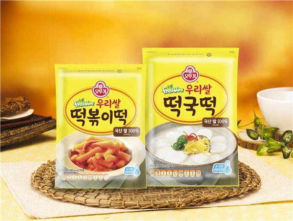 오뚜기, 국내산 쌀 사용한 '떡국떡·떡볶이떡' 출시