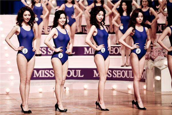'미스코리아' 이연희, 수영복 심사 무대 사진 공개