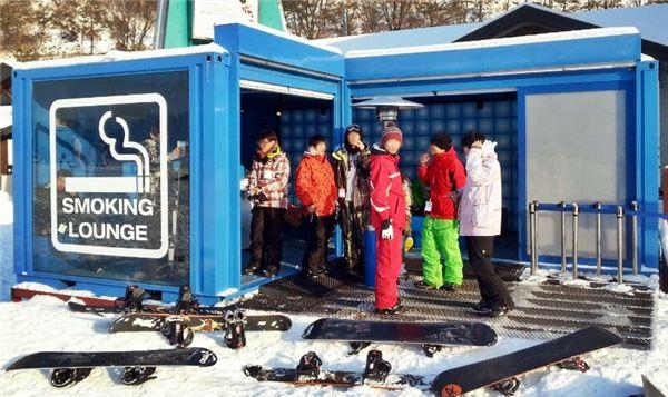 JTI코리아, 스키장에서도 선진 흡연 문화를…스모킹라운지 설치