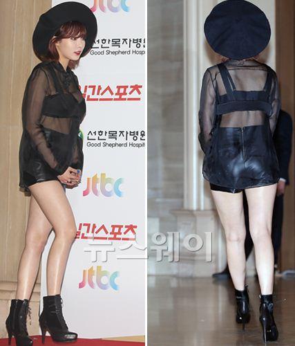 포미닛 현아, 한파 잊은 '골든디스크' 최강 섹시 콘셉트 의상