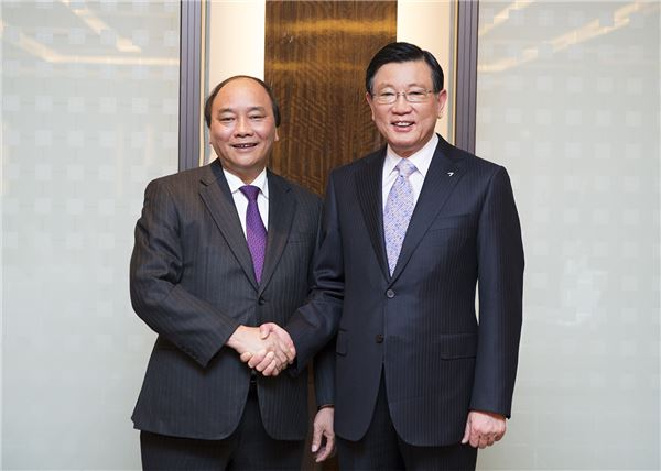 박삼구 금호아시아나 회장, 베트남 부수상과 환담