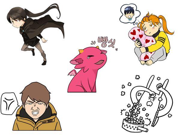 라인, 인기 네이버 웹툰 작가들의 특별 제작 스티커 무료 제공