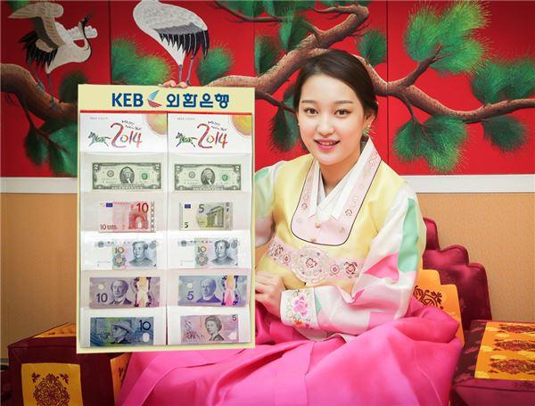외환은행, '행운의 미화2달러' 외화 세뱃돈 세트 판매