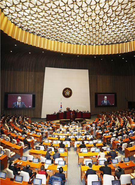 국회 교섭단체 대표 연설하는 황우여 대표