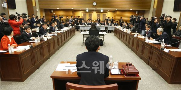 [NW포토]국회 정무위원회, NH농협카드도 현장조사