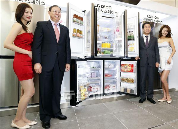 [NW포토]'LG DIOS(디오스) 냉장고 신제품 발표회 열려'