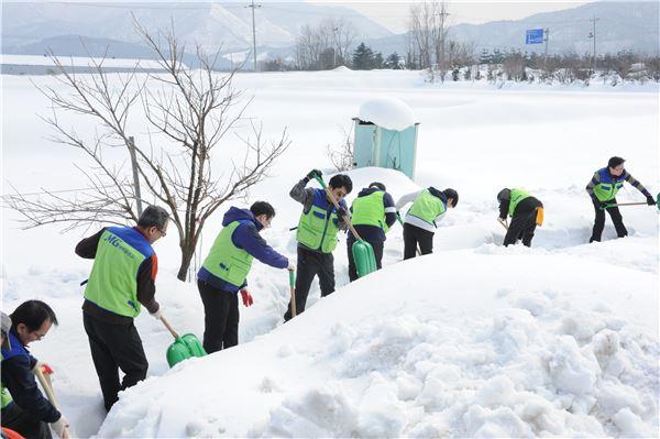 새마을금고, 강릉지역 제설구호 자원봉사
