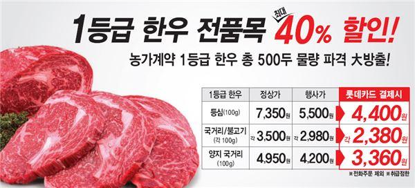 롯데슈퍼, 최대 40% 저렴한 '한우 통째로 잡는 날' 행사
