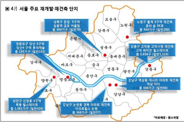 4월 서울서 재개발·재건축 물량 '봇물'